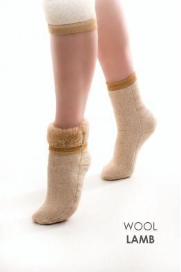 Носки меховые эластичные КАРАМЕЛЬ