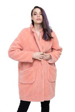Пальто THE BARREL цвет Лосось