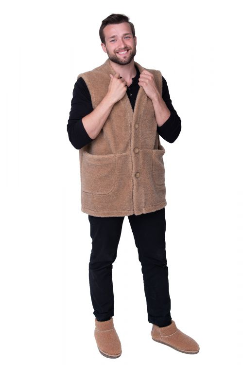 ЖИЛЕТ MEN VEST WOOL CAMEL цвет Кемел