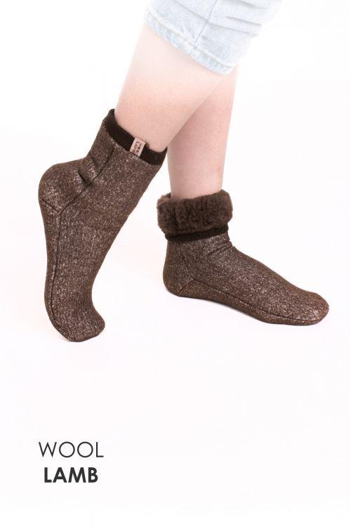 Носки меховые эластичные ШОКОЛАД